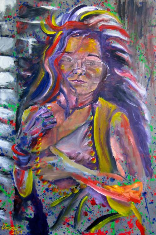 Janis Joplin by OmariJanis Joplin by Omari Booker $750
